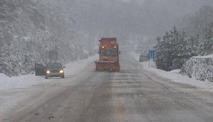 Çanakkale- Çan Yolunda Kar Yağışı