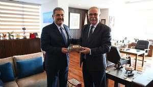 Ersümer'den Başkan Gökhan'a Ziyaret